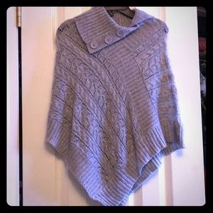 Girls sweater poncho